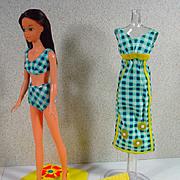 Mattel 1975 Baggie Francie in Get-Ups 'N Go Outfit, Mint!
