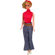 Mattel 1971 Quick Curl Barbie in Good Sports Outfit