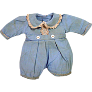 Madame Alexander Blue Cotton Jumper for Butch Baby Doll, 1940's!