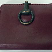 Vintage Gucci Burgundy Leather Ladies Wallet