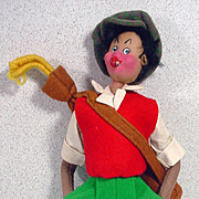 1950's Klumpe Golfer Cloth Doll, Spain!