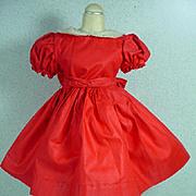 """Madame Alexander 18"""" Winnie Walker Red Cotton Party Dress, 1953-54"""