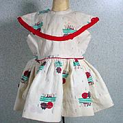 Vintage Terri Lee Patterned Day Dress, 1950's