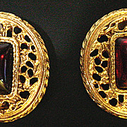 Vintage 1980's Dauplaise Clip On Earrings, Classic!