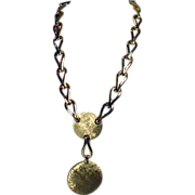 Monet 1970's Brushed Gold Tone Necklace!