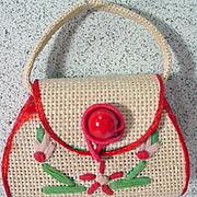Madame Alexander Cissette Straw Bag, 1950's