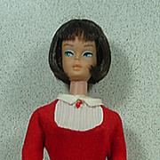 Mattel 1965 Brunette American Girl Barbie in Student Teacher Dress and Shoes