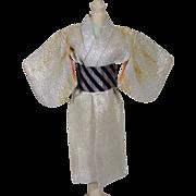 Rare Mattel Japanese Exclusive Barbie Kimono, 1960's