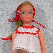 Vintage Mattel Growing Up Skipper Doll in Best Buy Outfit, 1975