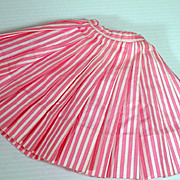 Vintage Madame Alexander Elise Pink and White Skirt, 1950's
