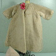 Vintage Madame Alexander Cissy Faux Fur Coat and Matching Hat, 1950's