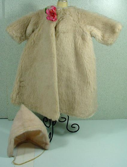 Vintage Madame Alexander Cissy Faux Fur Coat And Matching