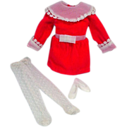 Vintage Mattel Skipper Outfit, Velvet Blush, 1970