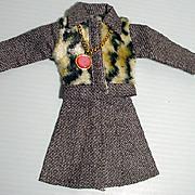 "VIntage 1970's Maxi Mod 11 1/2"" Fashion Doll Outfit, M&S Shillman"