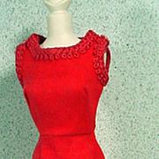 Mattel Vintage Barbie Outfit, Red Delight 1966
