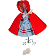 "Vintage Madame Alexander Red Riding Hood Outfit for 8"" Doll, 1960's"