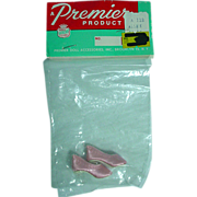 Premier Mint in Package PInk High Heels to fit Madame Alexander Cissette Doll, 1960's