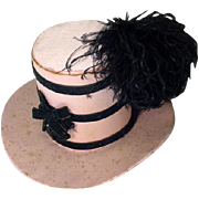 Vintage Boudoir Doll Hat, All Original, 1930's