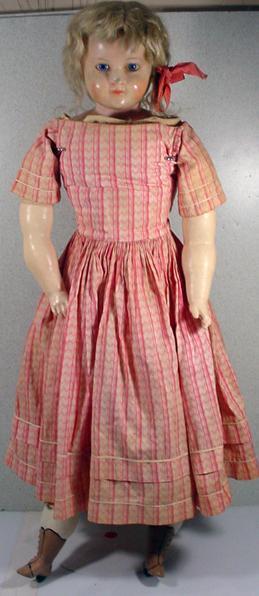 "Antique Wax Over Paper Mache 30"" All Original Clothing ..."