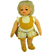 """Vintage 21"""" Italian Cloth Felt Doll"""