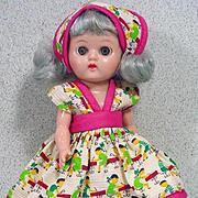 "Vintage 8"" Pam Hard Plastic Walking Doll, 1950's"
