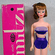 """11 1/2"""" Ideal Mitzi Fashion Doll, Mint with Box and Stand, 1961"""