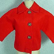 Vintage Madame Alexander Cissy Red Jacket, 1950's