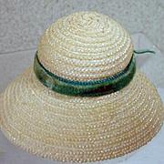 Vintage Madame Alexander Cissette Straw Hat, 1958