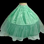 Vintage Madame Alexander Cissy Full Length Torquoise Slip for Ball Gown, 1950's