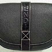 Vintage Fendi Black Tiny Shoulder Bag Purse, 1990's
