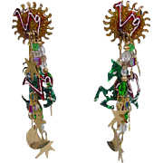 Vintage 1988 Lunch At The Ritz Pegasus Dangle Earrings!