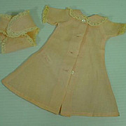 Vintage Madame Alexander Little Genius Lace Trimmed Robe and Matching Diaper, 1950's