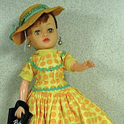 Ideal Little Miss Revlon in Traveling Outfit with Hat, 1950's!