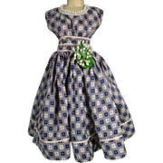 Vintage Madame Alexander Cissy Size Silk Day Dress, 1950's