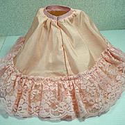 Madame Alexander Cissy Peach Colored Taffeta Petticoat, 1950's