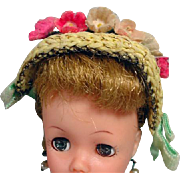 """Vintage Cocktail Hat for 10 1/2"""" Fashion Doll, 1950's"""