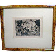 Original Etching and Drypoint Engraving By American Artist, Joel Beckwith
