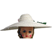 """Vintage Summer Picture Hat for 10 1/2"""" Fashion Doll, 1950's"""