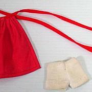 Original Bild Lilli Red Apron and White Panties, 1950's