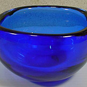 Vintage Mid Century Venini Murano Glass Bowl, 1960's