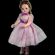 Vintage Madame Alexander Cissy in Lavender Day Dress, 1950's