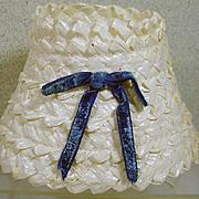 VIntage Madame Alexander Cissy Straw Hat, 1950's Chic!