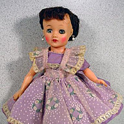 VIntage Ideal Brunette Little Miss Revlon in Tagged Outfit, 1950's