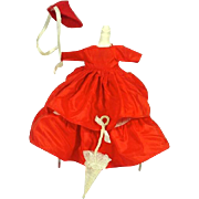 Original Costume for Ruth Gibbs China Doll, 1940's