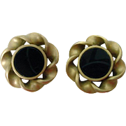 Vintage 1980's Karl Lagerfeld Couture Clip On Earrings