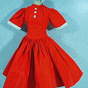 Vintage Madame Alexander Red Cissy Day Dress, 1950's