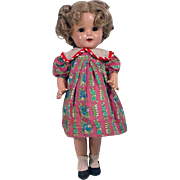 "1930's Composition 16"" Shirley Look-A-Like Doll"