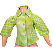 Madame Alexander Elise Green and White Check Blouse, 1950's