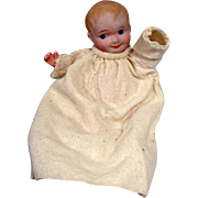 """Antique Bisque Head Nippon Baby Doll, 1920's, 7 1/2"""""""