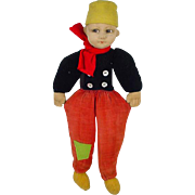 Vintage Norah Wellings Cloth Dutch Boy Doll, 1930's